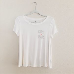 American eagle soft girl power tee. Size small